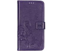 Kleeblumen Booktype Hülle Violett für das Samsung Galaxy A80