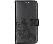 Kleeblumen Booktype Hülle Schwarz für Samsung Galaxy A80