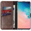 Selencia Echtleder Booktype Hülle Braun für das Samsung Galaxy S10