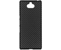 Carbon Look Hardcase-Hülle Schwarz Sony Xperia 10 Plus