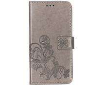 Kleeblumen Booktype Grau Hülle für das Huawei P Smart Z