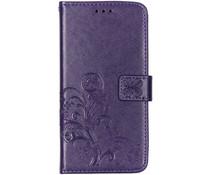 Kleeblumen Booktype Violet Hülle für das Huawei P Smart Z