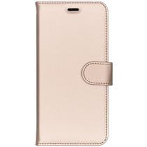 Accezz Goldfarbenes Wallet TPU Booklet für das Huawei P20 Pro