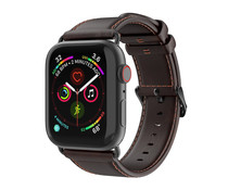 Dux Ducis Leather Band Dunkelbraun für das Apple Watch 40 / 38 mm
