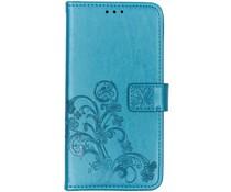 Kleeblumen Booktype Türkis Hülle für das Huawei P Smart Z