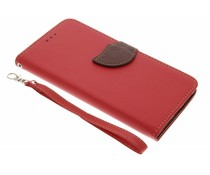 Blatt-Design TPU Booktype Hülle für das Rot Huawei Mate 9