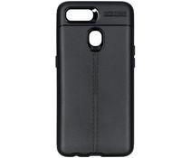 Leder Silikon-Case Schwarz für das Oppo AX7