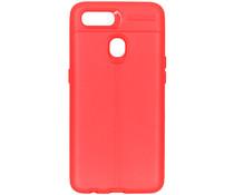 Leder Silikon-Case Rot für das Oppo AX7