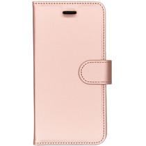 Accezz Roségoldenes Wallet TPU Booklet für das Nokia 5