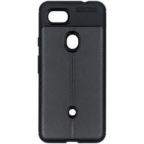Leder Silikon-Case Schwarz für das Google Pixel 3a