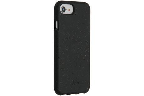Pela Eco-Friendly Softcase Backcover Schwarz für das iPhone 8 / 7 / 6s / 6