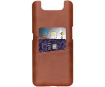 Cardholder Backcover Braun für das Samsung Galaxy A80