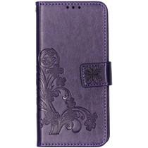 Kleeblumen Booktype Hülle Violett für das Huawei P30