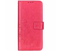 Kleeblumen Booktype Hülle Fuchsia Huawei P20 Lite (2019)