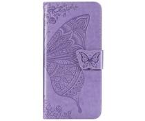 Schmetterling Softcase Klapphülle Lila für das Honor 20