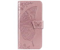 Schmetterling Softcase Klapphülle Roségold  für das Honor 20