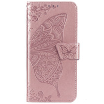 Schmetterling Softcase Klapphülle Roségold Honor 20 Pro