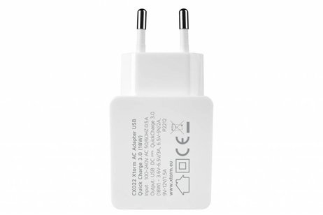 Xtorm AC Adapter USB Quick Charge 3.0 - 3 ampère
