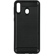 Brushed TPU Case Schwarz für das Samsung Galaxy M20 Power