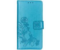 Kleeblumen Booktype Hülle Türkis für das Nokia 2.2