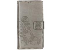 Kleeblumen Booktype Hülle Grau für das Nokia 2.2