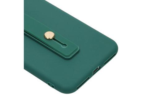 Softcase Backcover mit Schlaufe Dunkelgrün für das iPhone 8 Plus / 7 Plus