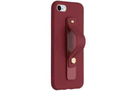 Softcase Backcover mit Schlaufe Dunkelrot für das iPhone 8 / 7