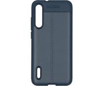 Leder Silikon-Case Dunkelblau für das Xiaomi Mi A3