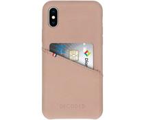 Decoded Leder Back Cover Beige für das iPhone X