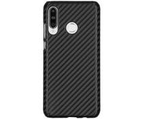 Carbon Look Hardcase-Hülle Schwarz für das Huawei P30 Lite