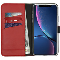 Selencia Echtleder Booktype Hülle Rot für das iPhone 11 Pro Max