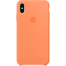 Apple Silikoncase Papaya für das iPhone Xs Max