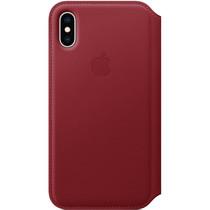 Apple Leather Folio Book Case Rot für das iPhone Xs / X