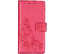 Kleeblumen Booktype Hülle Fuchsia für das Xiaomi Mi 9 SE
