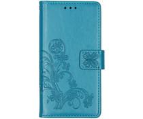 Kleeblumen Booktype Hülle Türkis für das Xiaomi Mi 9 SE