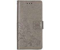Kleeblumen Booktype Hülle Grau für das Xiaomi Mi 9 SE