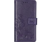 Kleeblumen Booktype Hülle Violett für das Xiaomi Mi 9 SE