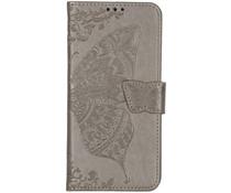 Schmetterling Softcase Klapphülle Grau Xiaomi Mi 9T (Pro)