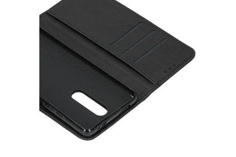 Xiaomi Mi 9T (Pro) hülle - Basic Leather Booktype Schwarz