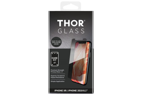 THOR Case-Fit Privacy Screenprotector + Easy Apply Frame für das iPhone 11 / iPhone Xr