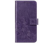 Kleeblumen Booktype Hülle Violett für das Nokia 2.2