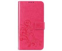 Kleeblumen Booktype Hülle Fuchsia für das Nokia 2.2