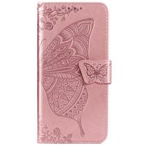 Schmetterling Softcase Klapphülle Roségold Xiaomi Mi 9 Lite