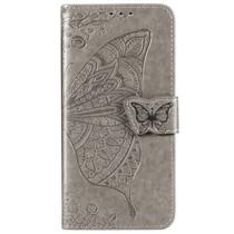 Schmetterling Softcase Klapphülle Grau Xiaomi Mi 9 Lite
