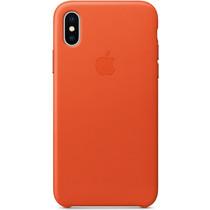 Apple Leder-Case Bright Orange für das iPhone X