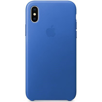 Apple Leder-Case Electric Blue für das iPhone X