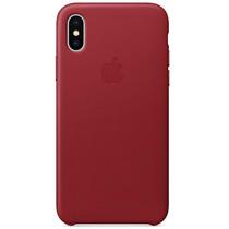 Apple Leder-Case Red für das iPhone X