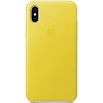 Apple Leder-Case Spring Yellow für das iPhone X