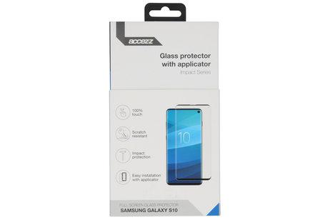 Accezz Glass Screenprotector + Applicator für das Samsung Galaxy S10