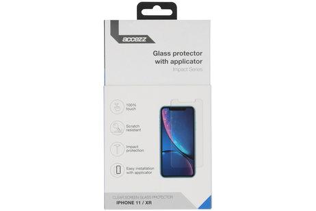 Accezz Glass Screenprotector + Applicator für das iPhone 11 / Xr